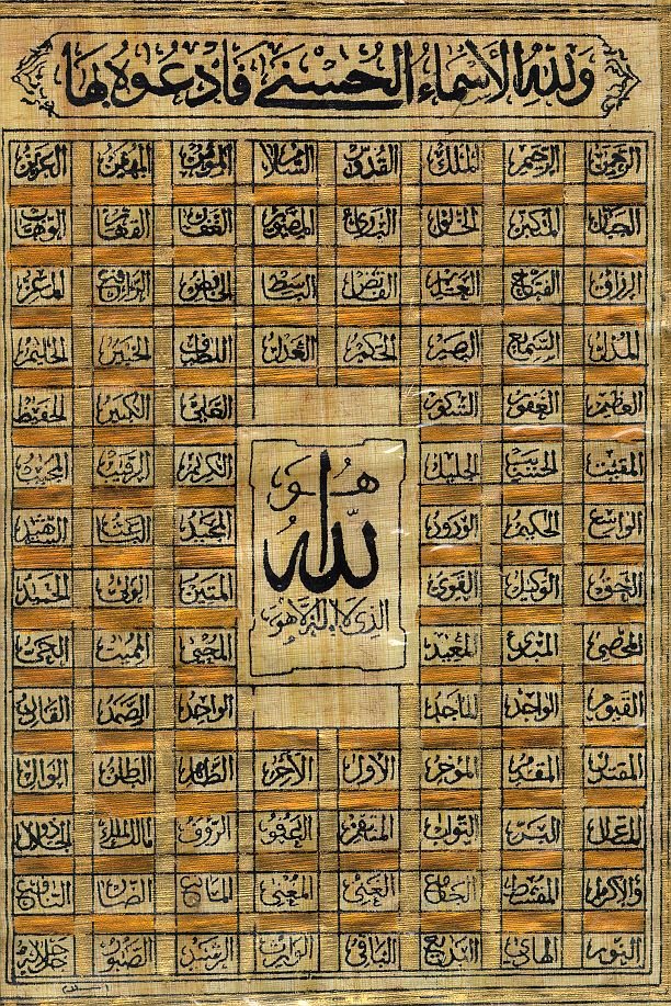 99 Most Beautiful Names of Allah